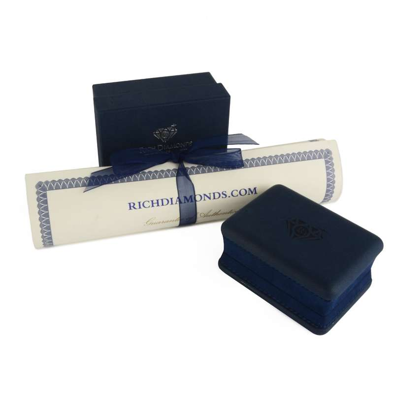 White Gold Diamond and Ruby Earrings